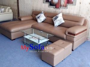 Mẫu ghế Sofa da góc chữ L kê phòng khách AmiA SFD149