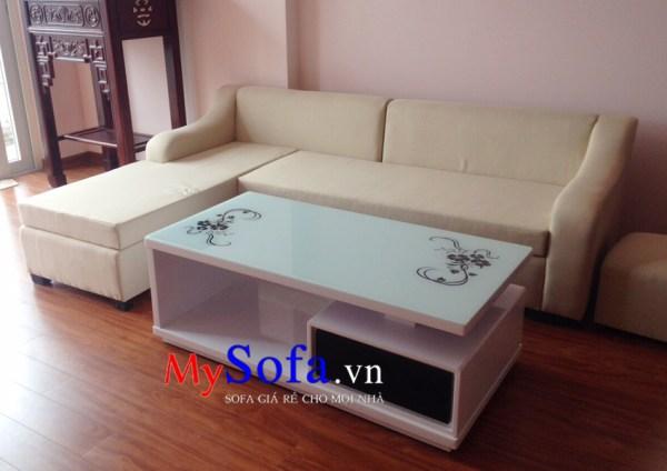 AmiA SFN134 - Bộ ghế Sofa nỉ góc chữ L kê phòng khách