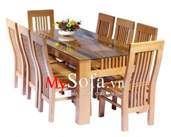 Mẫu bàn ăn gỗ sồi đẹp, hiện đại AmiA BA010   mySofa.vn