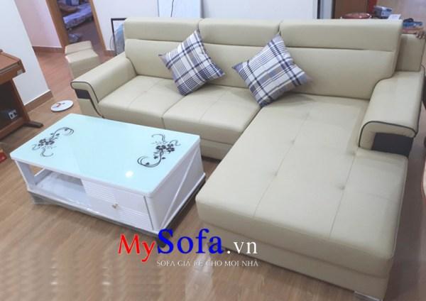 Hình ảnh mẫu Sofa da dạng góc AmiA SFD144