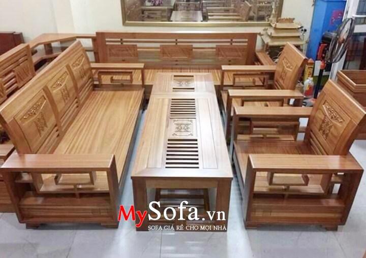 Hình ảnh ghế Sofa gỗ cho phòng khách AmiA SFG020