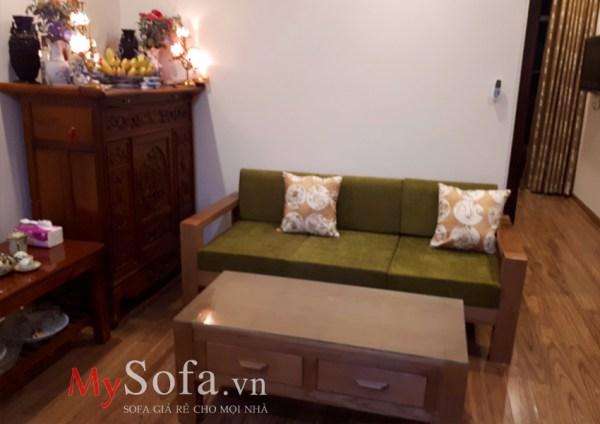 Hình ảnh Sofa văng gỗ AmiA SFG029