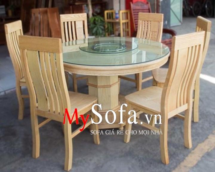 AmiA BA011 mẫu bàn ăn mặt tròn, xoay vòng tròn