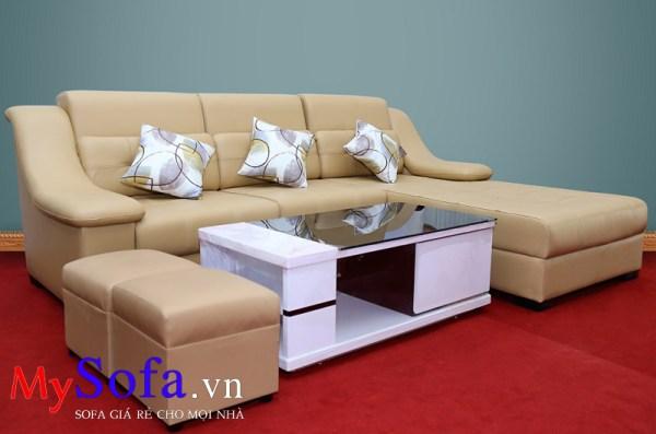 Mẫu ghế Sofa da góc hiện đại AmiA SFD039