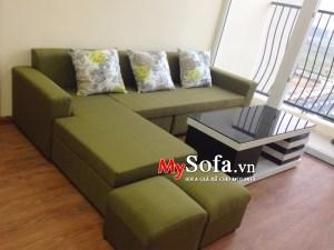 Mẫu ghế Sofa nỉ đẹp giá rẻ, dạng góc AmiA SFN110