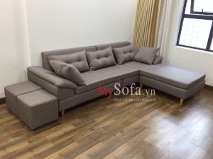 AmiA SFN162 - Mẫu ghế Sofa nỉ góc chữ L cho phòng khách