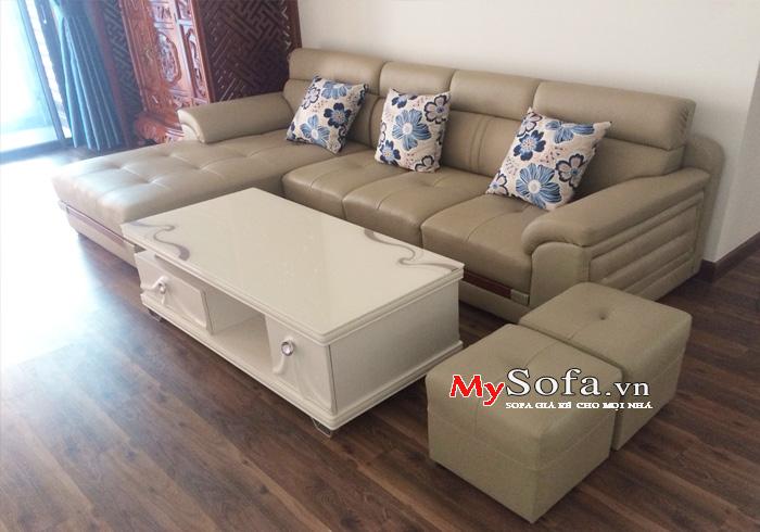 Mẫu ghế Sofa da đẹp, sang trọng AmiA SFD123   mySofa.vn