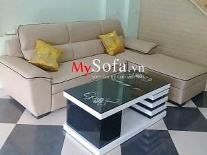 Mẫu Sofa da góc hiện đại AmiA SFG065 cho phòng khách