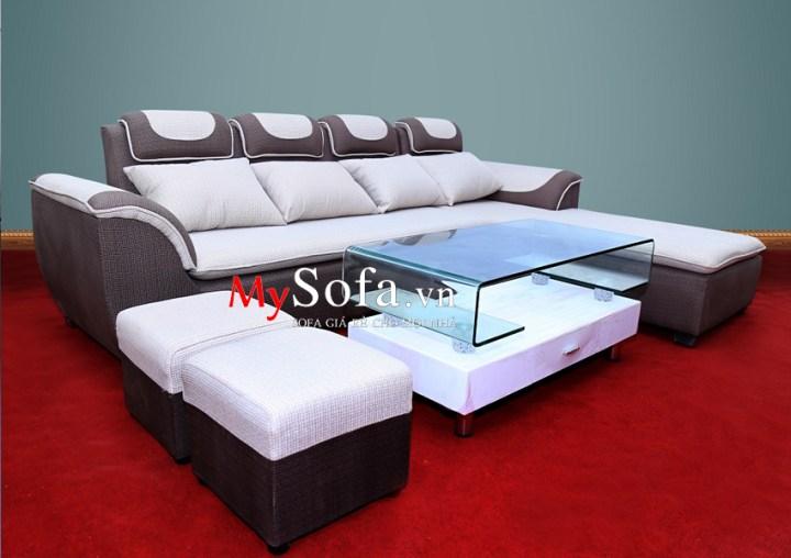 Mẫu Sofa góc nỉ đẹp, giá rẻ AmiA SFN010