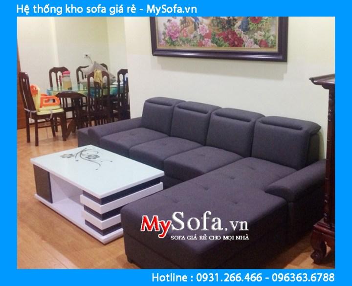 Mẫu sofa góc nủ kê phòng khách nhà chung cư