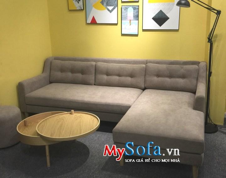 Mẫu sofa nỉ đẹp kê phòng khách nhỏ