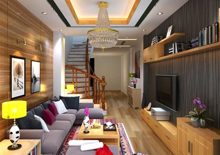 Mẫu sofa phòng khách nhà ống đẹp