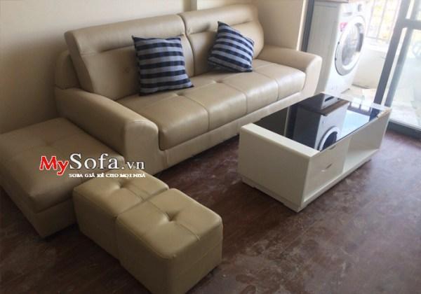 Mẫu sofa vằn da kích thước nhỏ cho phòng khách AmiA SFD143