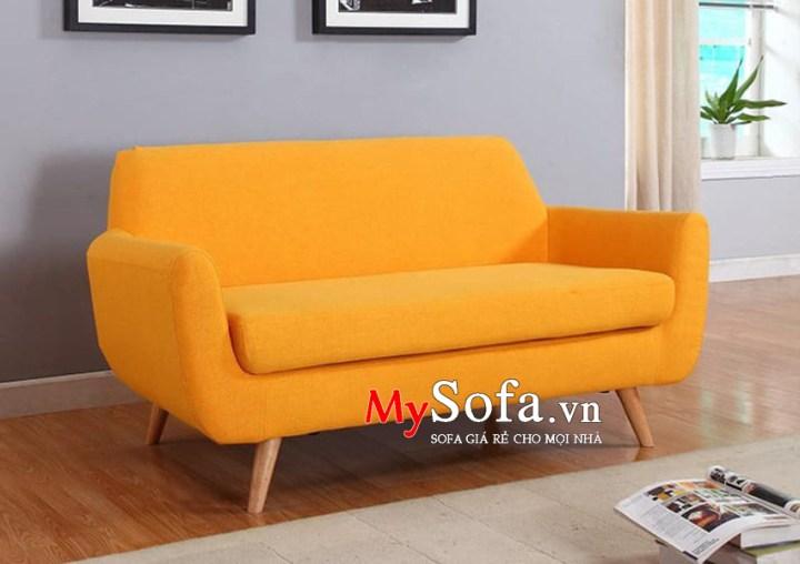 Mẫu văng Sofa nỉ đẹp, giá rẻ màu vàng AmiA SFV112