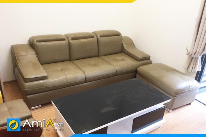 Bộ ghế sofa văng da đẹp kê cho văn phòng