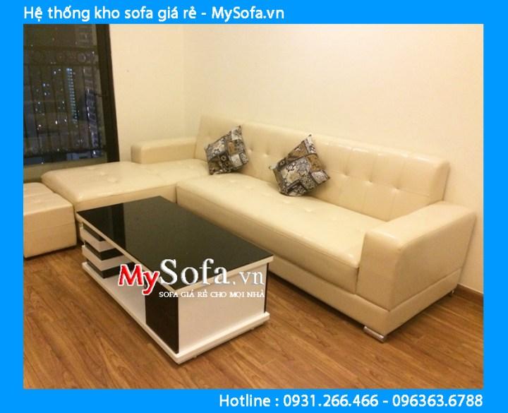 Sofa góc nhỏ kê phòng khách căn hộ chung cư