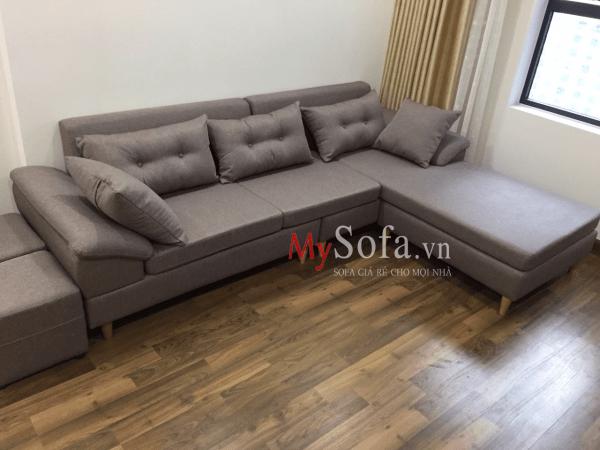 Sofa nỉ cho phòng khách đẹp AmiA SFN162