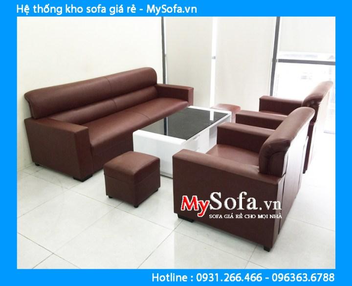Sofa phòng khách chung cư kiểu tay tựa