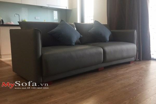 Mẫu sofa văng da AmiA SFD188 cực sang trọng cho phòng khách