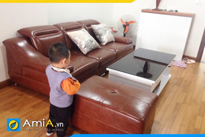 Hình ảnh mẫu sofa AmiA SFD100 chụp tại nhà khách hàng