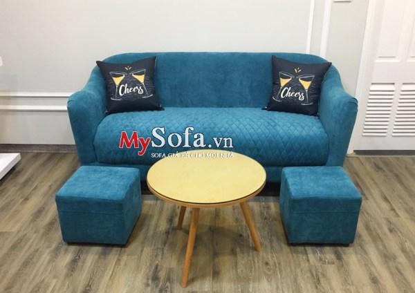 Mẫu ghế Sofa văng nỉ AmiA SFN181 cho phòng nhỏ