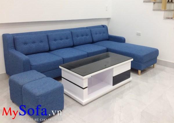 Mẫu ghế Sofa nỉ góc chữ L hiện đại AmiA SFN170