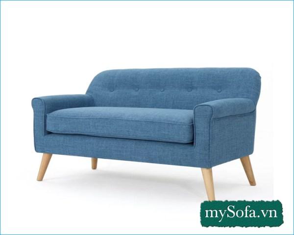 Ghế sofa văng nỉ mầu xanh đẹp MyS-2307