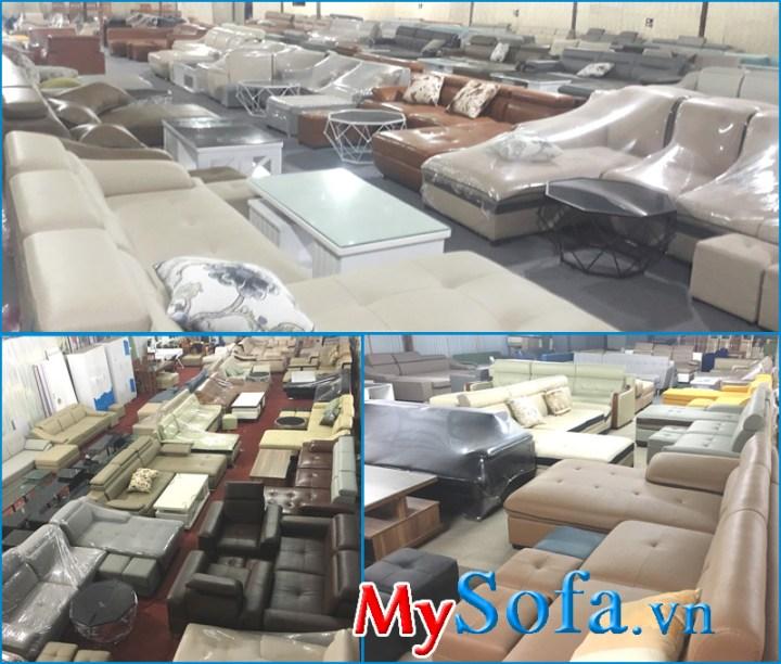 Mua bàn ghế sofa phòng khách giá rẻ tại Hà Nội