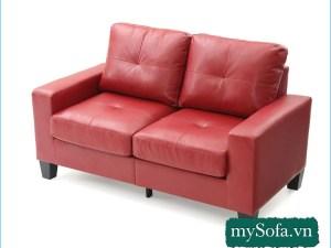 Ghế sofa da màu đỏ đẹp giá rẻ MyS-19065