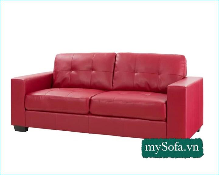 mẫu ghế sô pha da đẹp màu đỏ MyS-1595