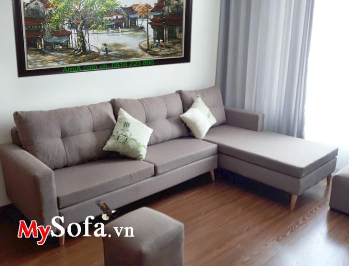 Ghế sofa nỉ vải đẹp giá rẻ. Thiết kế dạng góc L nhỏ mini
