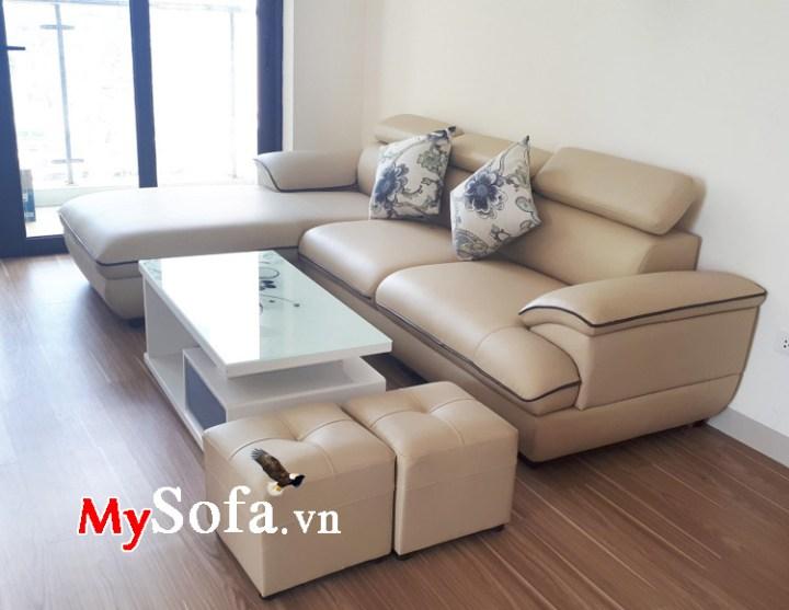 Mẫu ghế sofa góc chữ L thiết kế nhỏ gọn