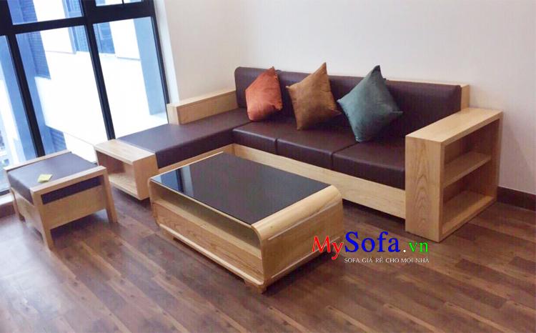 Ghế Sofa Gỗ đẹp Cho Phong Khach Hiện đại Amia Sfg2406
