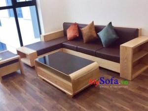 Sofa gỗ đẹp hiện đại cho nhà biệt thự