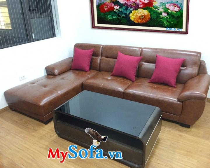 Bộ bàn ghế sofa da đẹp kê phòng khách