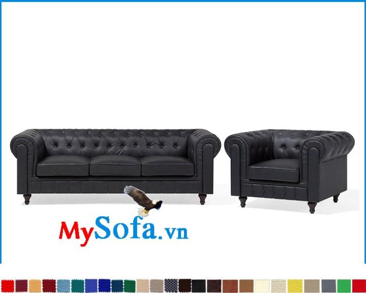 Bộ ghế sofa tân cổ điển kê phòng khách