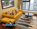 Ghế sofa văng nỉ đẹp màu vàng trẻ trung