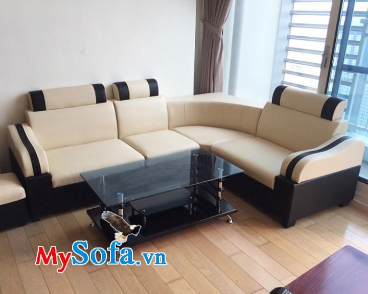 Ghế sofa da dạng góc đẹp giá rẻ dưới 3 triệu