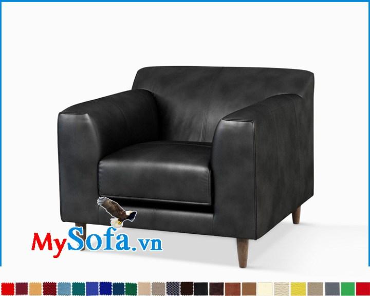 ghế sofa đơn một chỗ bọc da màu đen đẹp