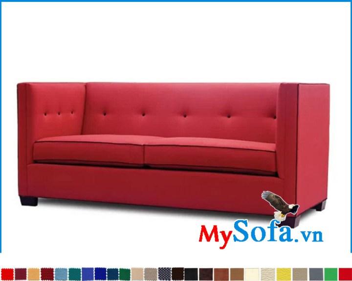 Ghế sofa nỉ màu đỏ đẹp