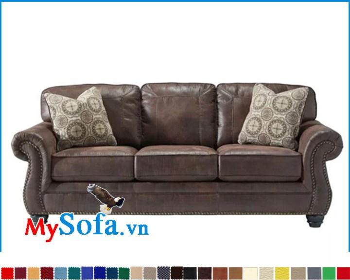 Ghế sofa băng dài kiểu tân cổ điển