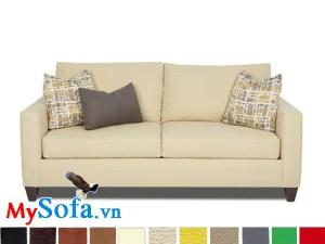 Ghế sofa nỉ dạng văng đẹp giá rẻ màu kem tươi sáng