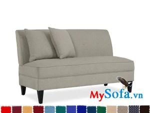 Ghế sofa nỉ kiểu văng dài đẹp cho phòng ngủ