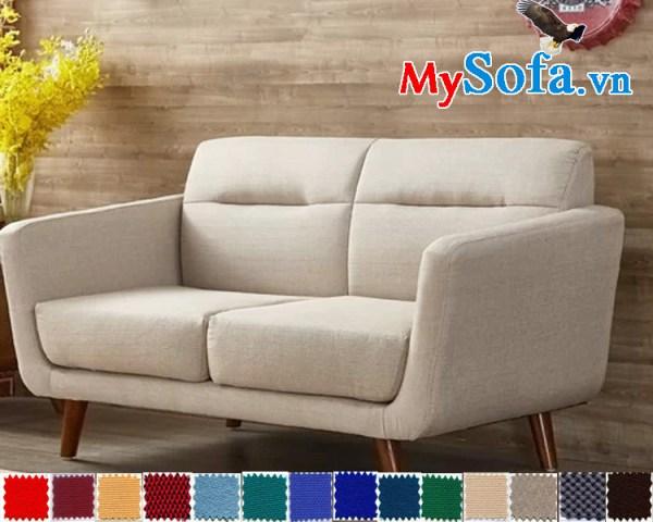 sofa văng 2 chỗ chất nỉ hiện đại và trẻ trung