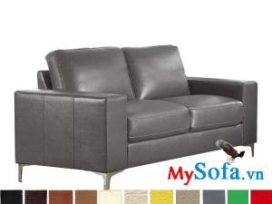 ghế sofa văng bọc da đẹp cho phòng khách hiện đại