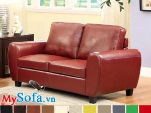 sofa văng da 2 chỗ sang trọng