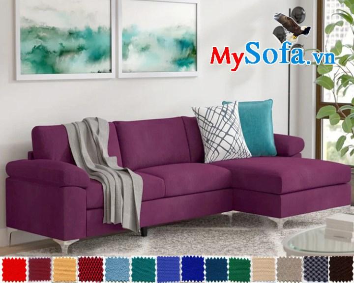 sofa nỉ dạng góc chữ L đẹp hiện đại sang trọng
