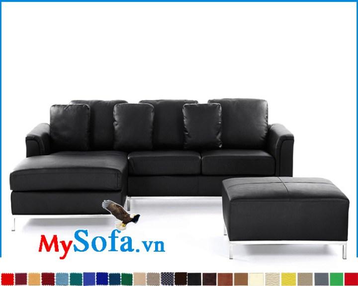 Mẫu ghế sofa da đẹp dạng góc