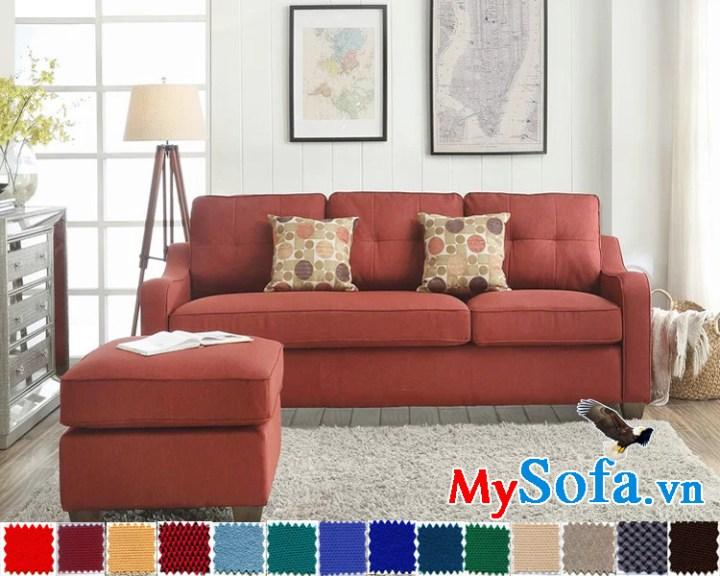 Ghế sofa nỉ đẹp giá rẻ phong cách hiện đại trẻ trung