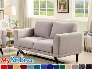 Ghế sofa nỉ kiểu văng 2 chỗ thanh lịch hiện đại